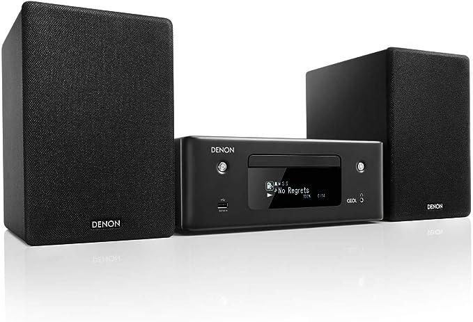 Denon Ceol N 10 Compact System Hifi Amplifier Cd Player Internet Radio Music Streaming Heos Multiroom Bluetooth Wlan Alexa Compatible 2 Optical Tv Inputs With Speaker Black