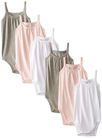 Amazon Com Burt S Bees Baby Baby Girls Set Of 6 Organic Camisole