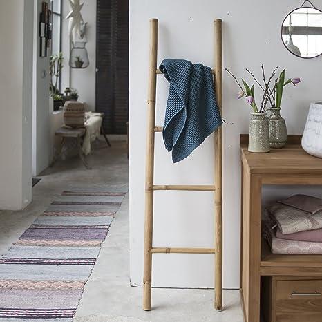 Tikamoon 2137 Escalera Puerta Toalla de baño bambú Beige 40 x 4 x 150 cm