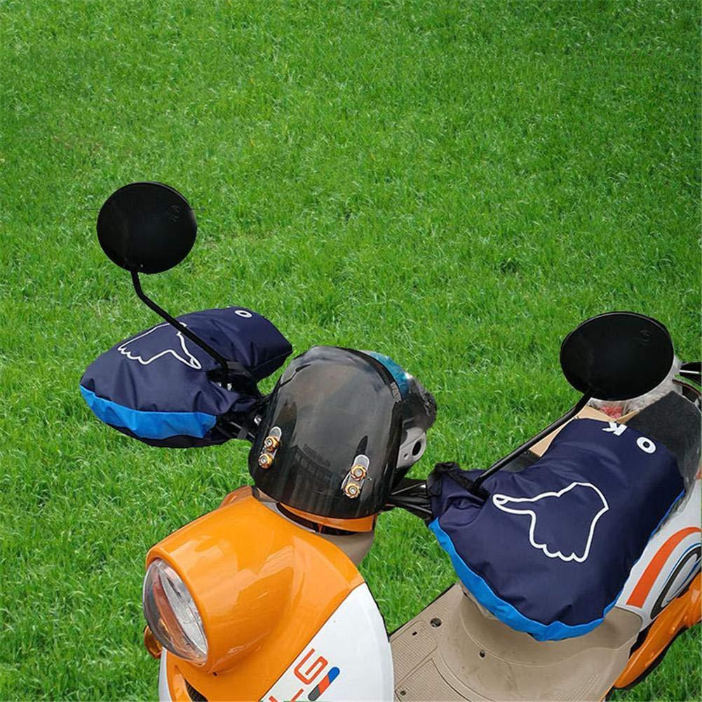 soundwinds Guidon pour Moto Manchons dhiver au Chaud Gants Guidon Coupe-Vent en Velours Moto Manchons Anti-Froid Barre de Manchons pour Guidon Accessoires
