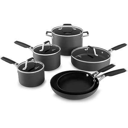 fbf78ae90e8 Amazon.com  Select by Calphalon Hard-Anodized Nonstick 10-piece Cookware Set