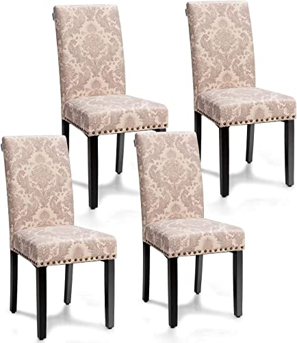 Giantex Upholstered Dining Chairs Set of 4