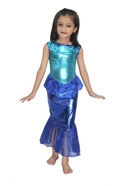 fcdc784236 KAKU FANCY DRESSES Kids Mermaid Gown Fairy Teles,Story Book Costume for  Annual Function/
