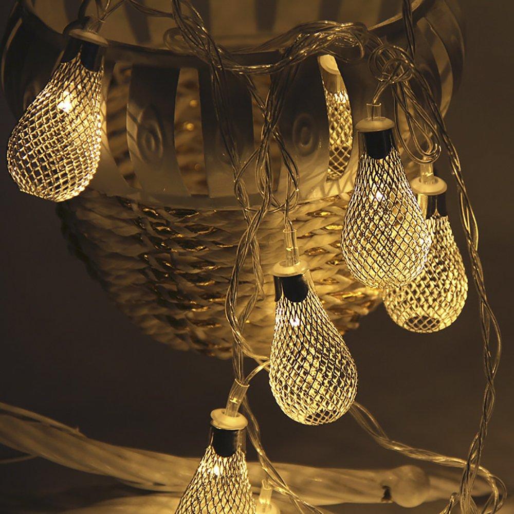 Amazon.com: Romántico decorativa guirnalda de luces funciona ...