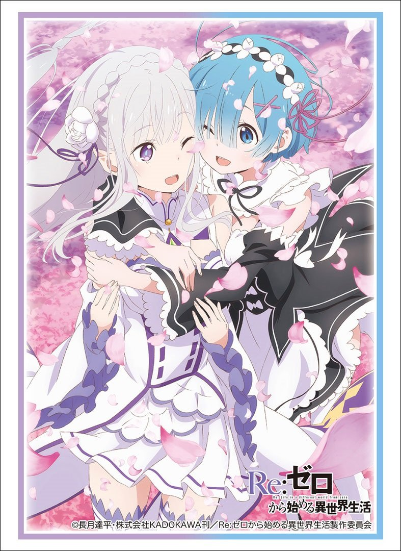 Re:Zero Starting Life in Another World Emilia EMT & Rem Card Game Character Sleeves Collection HG Vol.1613 High Grade Anime Art