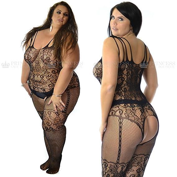 a16e23c30a Fishnet Horsiery Lingerie Corset Bodystocking Bodysuit Plus  Amazon.co.uk   Clothing