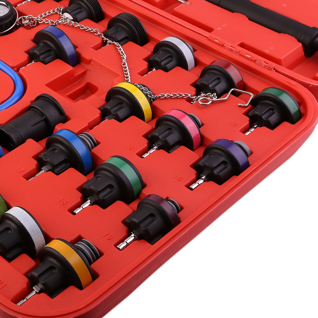 CATUO Universal Radiator Pressure Tester and Vacuum Type Cooling System Kit - 28-Piece Purge and Coolant Refill Kit W/Case - 58 x 48 x 11cm by CATUO (Image #8)