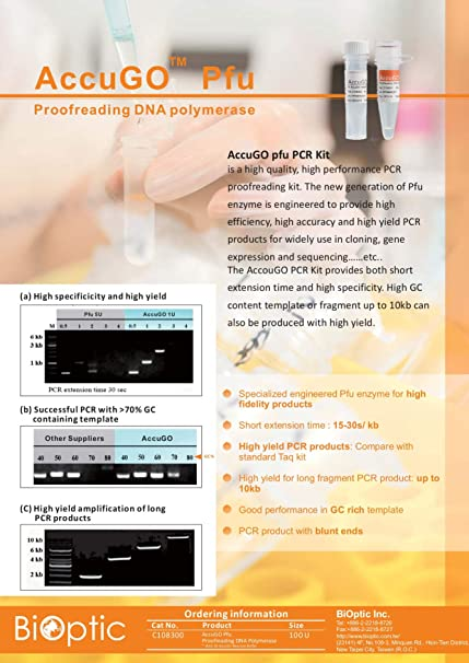 Amazon.com: BiOptic, AccuGO Pfu Proofreading DNA Polymerase ...