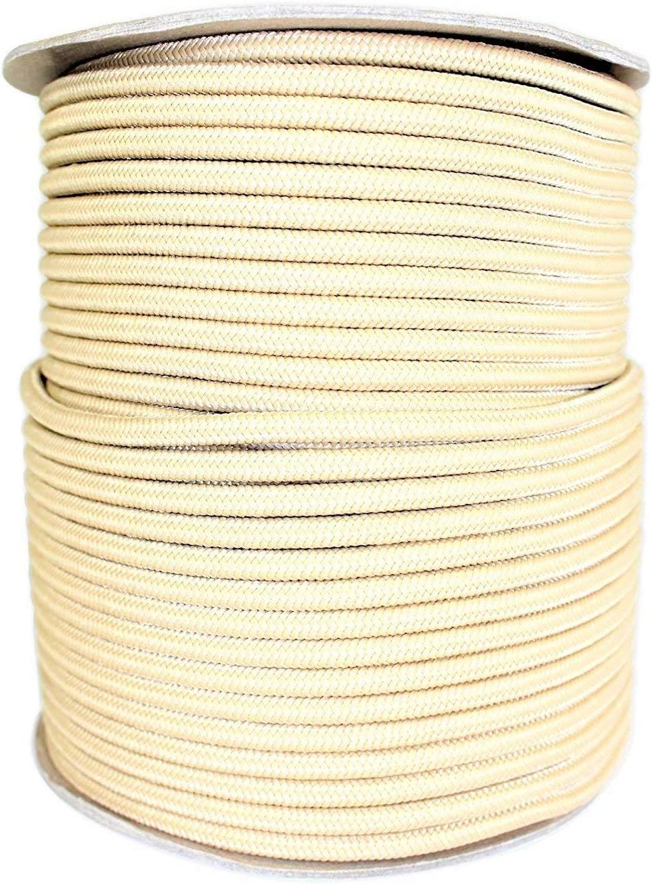 SGT Nudos 1/4Inch poliéster Stiff Halter Cable/Cuerda–Trenzado Core–no elástico Trenzado de más/No Shrink