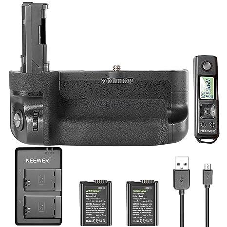 Neewer Kit de Mango reparación con GHz Mando a Distancia LCD Pantalla para Sony A7 II A7R II, con Mando a Distancia, Unidades batería de Litio de 1100 ...