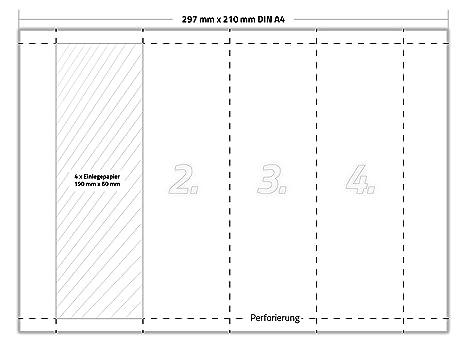 200 X Karteo® einsteckkarten | Papel EINLAGEN | archivadores normal | Einleger 250 g/