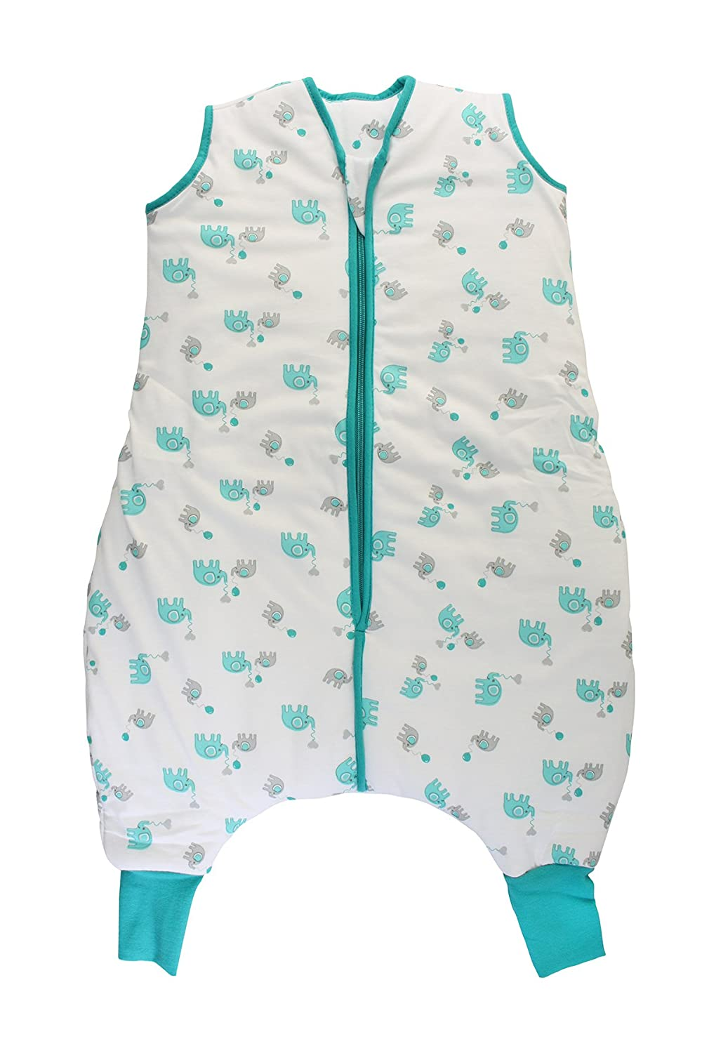 Slumbersac Sleeping Bag with Feet 2.5 Tog Simply Blue Elephants 18-24 Months