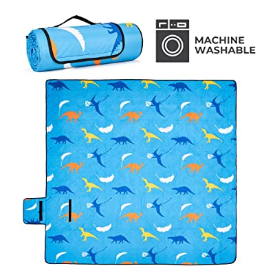 DEERFAMY Picnic Mat, Extra Large 79 ×79 inches Waterproof and Outdoor Washable Picnic Blanket Great for Kids, Beach, Camping, Grass, Stadium: Sports & Outdoors