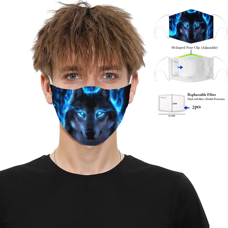 Visi/ère de Protection avec Filtre /à Charbon Actif /à 5 Couches Anti-bu/ée et Anti-poussi/ère Protection Visage R/éutilisable R/églable Ecran Facial /à Adulte et Les Enfants FEOYA