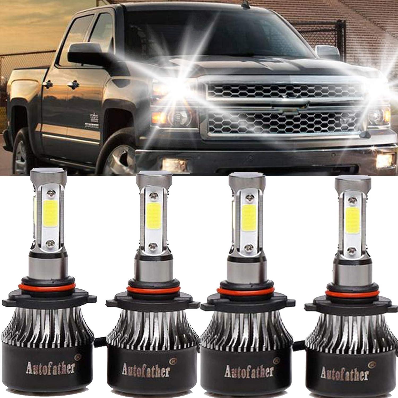 9005 H11 6000K LED Headlight Fog Light For 2007-2013 GMC Sierra 1500 2500 3500