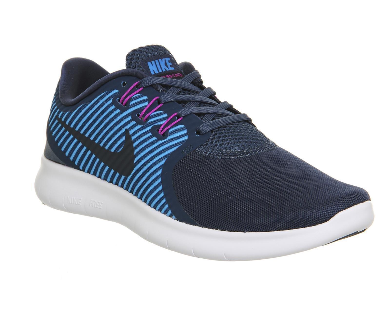 NIKE Women's Shoes Free RN Commuter Running Lightweight Sneaker (7 M US, Squadron Blue/Dark Obsidian)