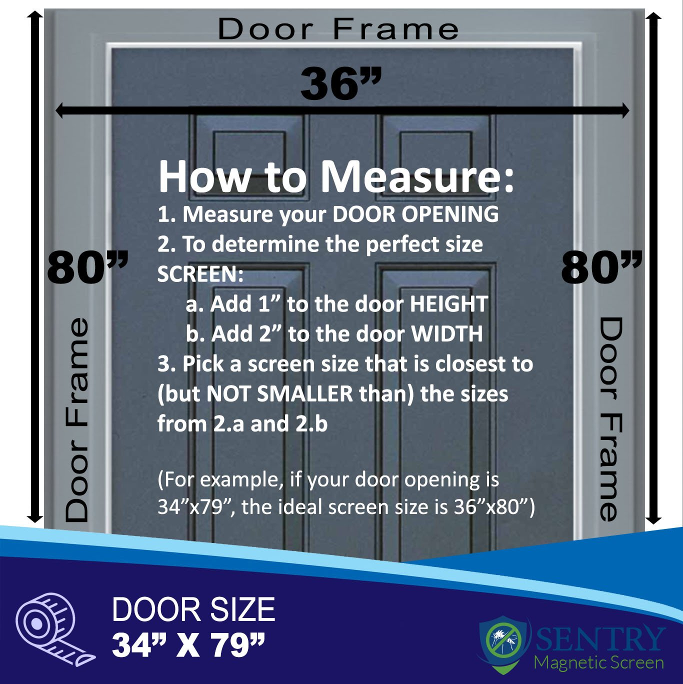 Reinforced Magnetic Screen Door US Military Approved Many Sizes and Colors to Fit Your Door Exactly with Full Frame Hook and Loop Fasteners to Ensure All Bugs are Kept Out Tough and Durable