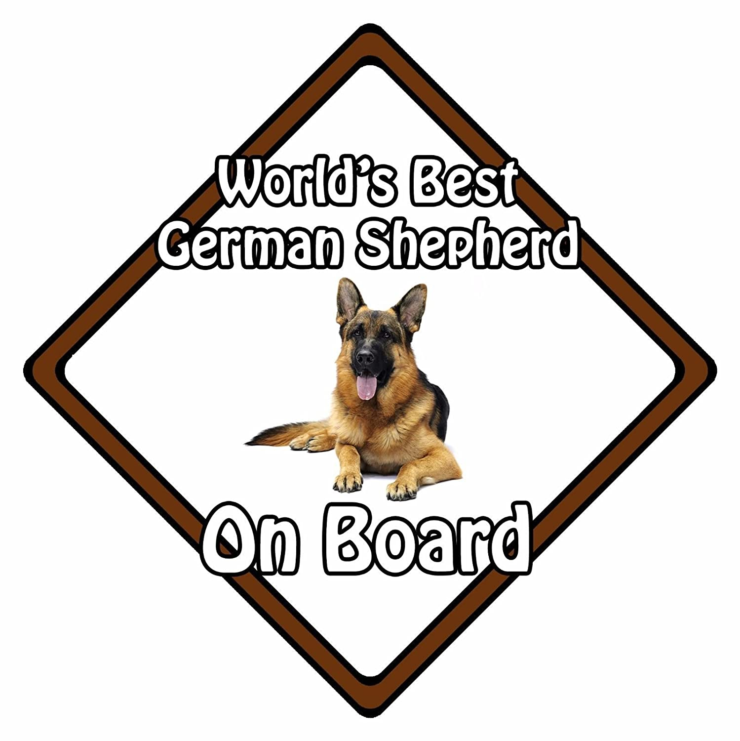 Non Personalised Dog On Board Car Safety Sign Worlds Best German Shepherd