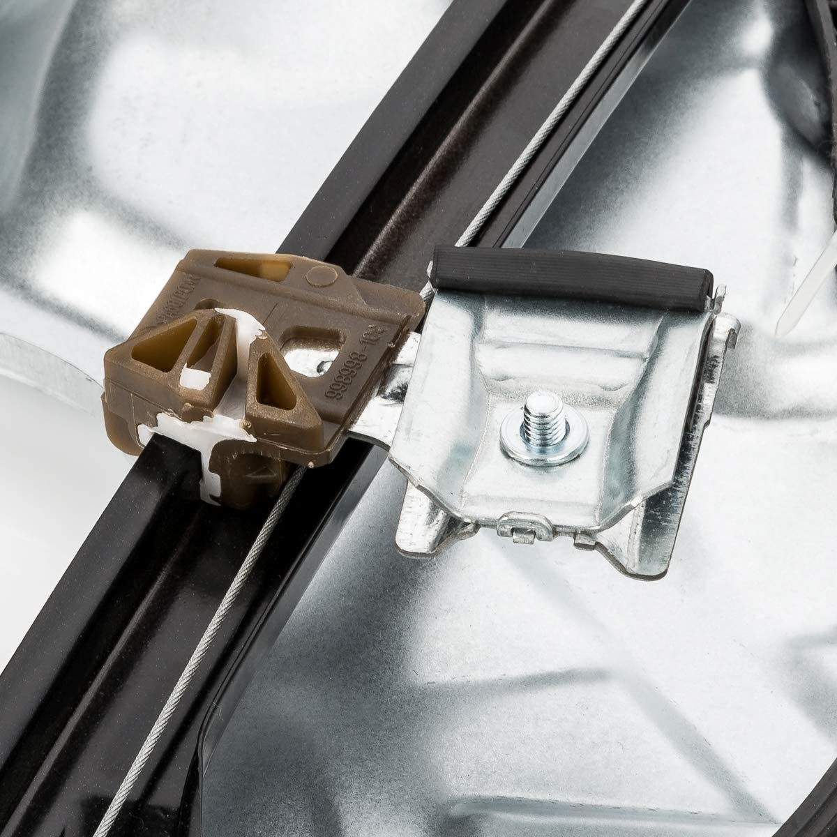 LST Fensterheber komplett mit Metallplatte vorne links POLO 9N 9A 4//5 T/ürer