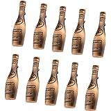 Baoblae 10Pieces Antique Style Copper Bronze Wine Bottle Shaped Cabinet Wardrobe Door Drawer Pull Handle Grip Knob