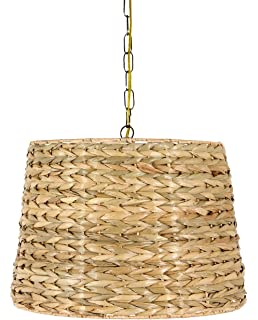 Upgradelights all natural woven seagrass 16 inch washer fitted upgradelights all natural woven seagrass 16 inch drum portable swag lampshade aloadofball Image collections
