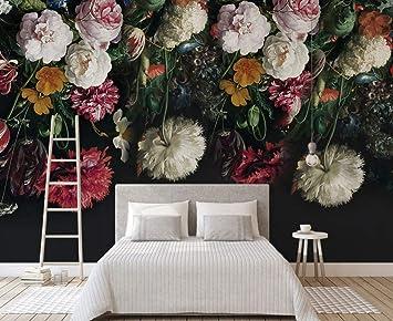 Wh Porp Black Bottom Grosse Wandbilder 3d Rose Flower Tapete Fur Schlafzimmer Sofa Hintergrund 3d Fototapeten 3d Blume Aufkleber 200cmx140cm Amazon De Baumarkt