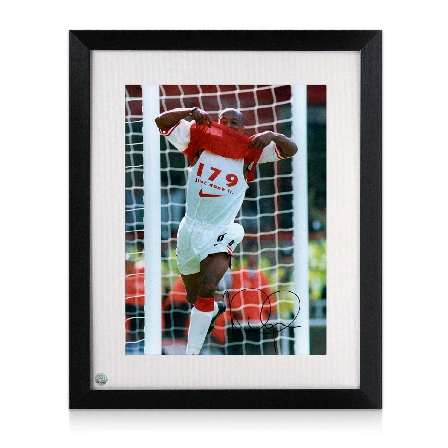 0b27fc3ab Framed Ian Wright Signed Arsenal Photo  179 Goals