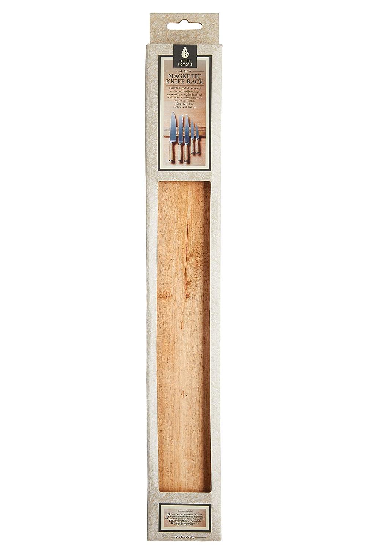45/x 6/x 3/cm Kitchencraft Elementos Naturales de Madera magn/ético Cuchillo Rack marr/ón