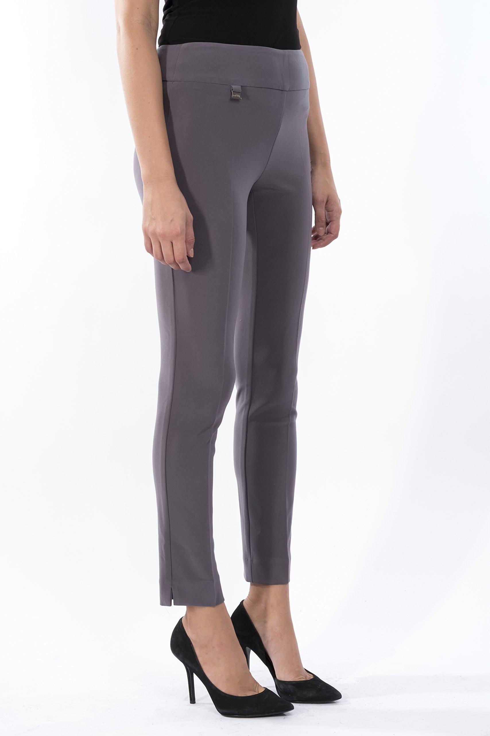 Joseph Ribkoff Ankle Length Wide Waistband Tailored Pant Zipperless - Style 144092 - Size 18 by Joseph Ribkoff (Image #2)