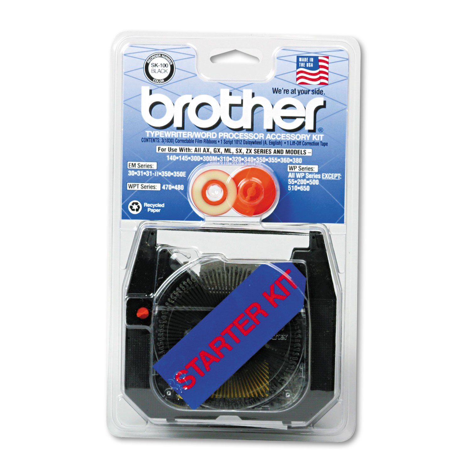 Brother SK100 Starter Kit for Brother AX, GX, SX, Most WP and Other Typewriters