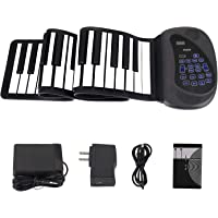 Portable Flexible Electronic 61-Key piano - ANDSF [2019 Upgraded Version ] double loudspeaker with Bluetooth microphone music keyboard piano built-in rechargeable battery for beginners gift