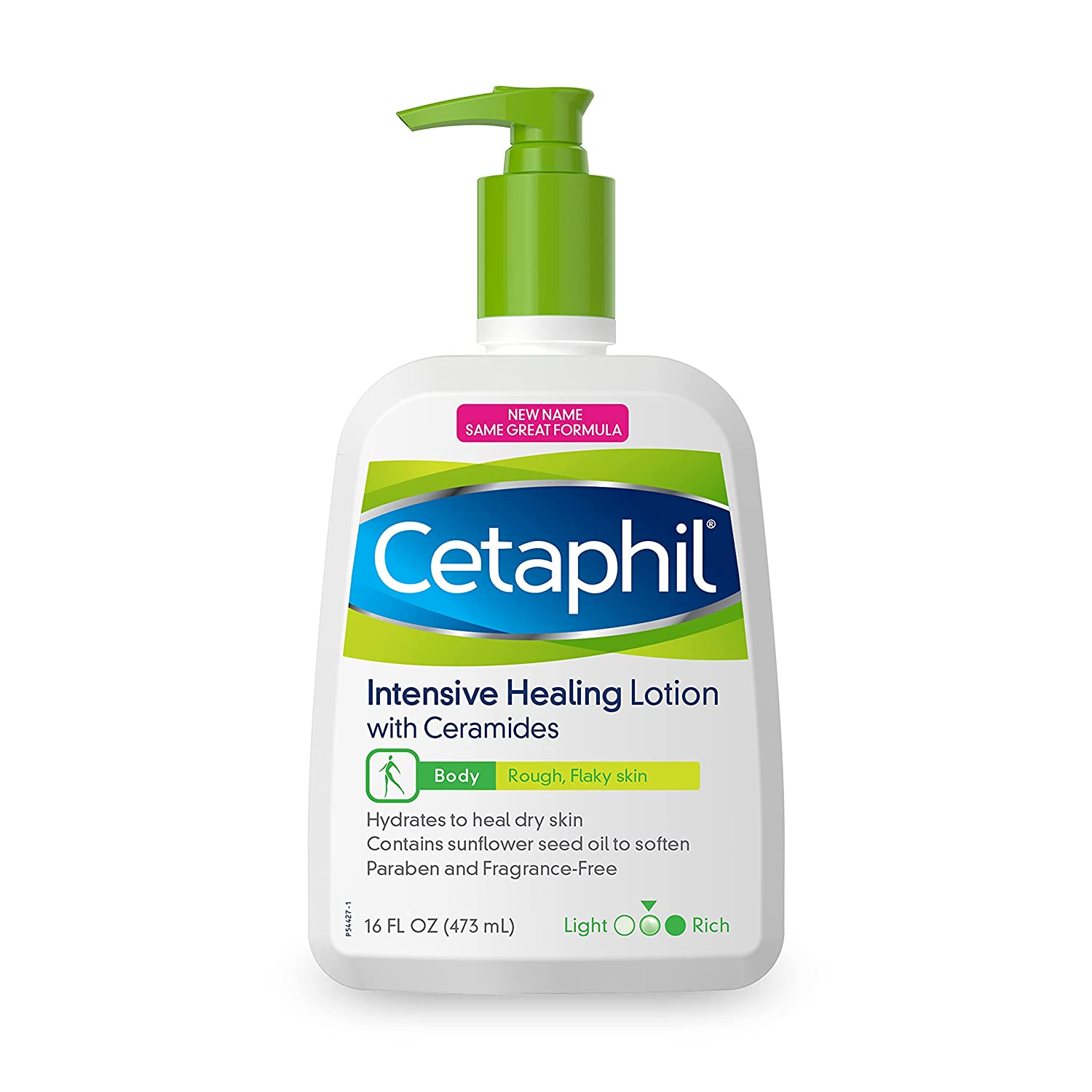 CETAPHIL Intensive Healing Lotion with Ceramides 16 oz For Dry, Rough, Flaky Sensitive Skin 24-Hour Hydration Fragrance, Paraben & Gluten Free Dermatologist : Beauty