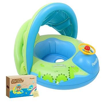 Amazon.com: Peradix Flotador de agua para bebés con toldo ...