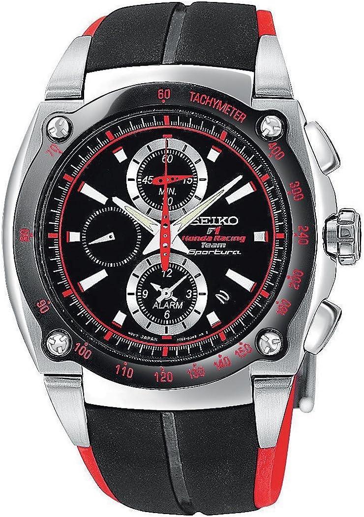 Seiko Men s SNA749 Sportura Formula One Honda Racing Watch