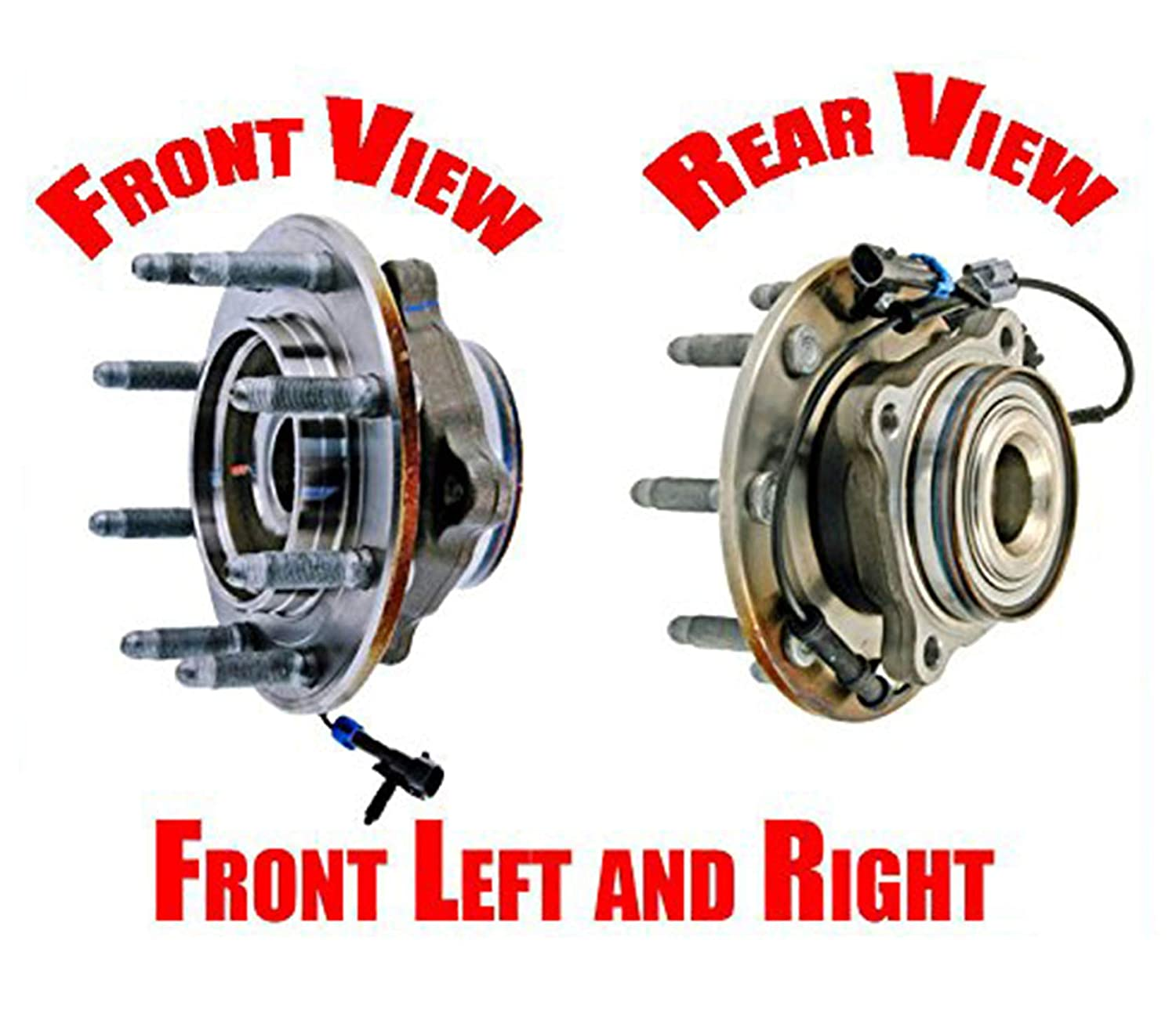 Ft Wheel Bearing and Hub Assembly 8 Year Warr 2 Mac Auto Parts for 07-10 Silverado 2500HD 4x4