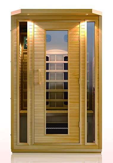 precision therapy hemlock 1 person ceramic heater far infrared sauna etl approved - Infared Sauna