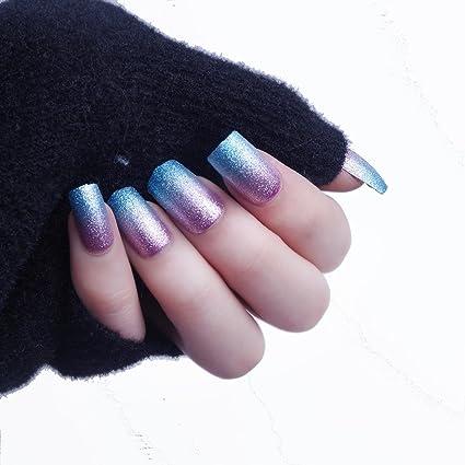 24pcs 12 diferentes tamaño de sirena con purpurina Gardient azul rosa diseño de tamaño mediano longitud