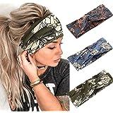 Catery Boho Headbands Criss Cross Headband Headpiece Bohemia Floal Twist Head Wrap Hair Band Vintage Stylish Elastic…