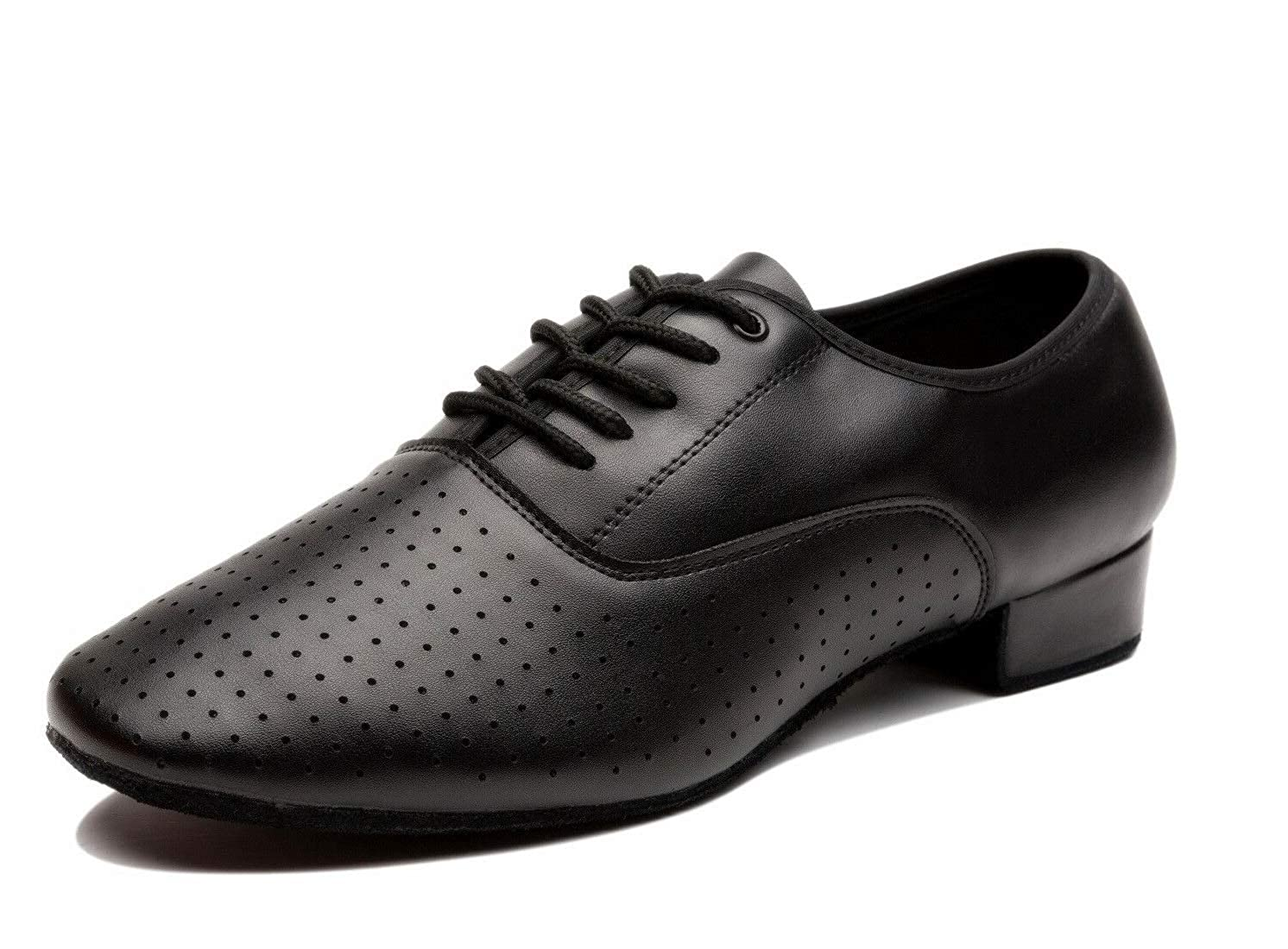 M Tango,Ballroom,Viennese Waltz US NLeahershoe Breathable Lace-up Dancing Leather Latin Shoes for Men Salsa 7.5 D