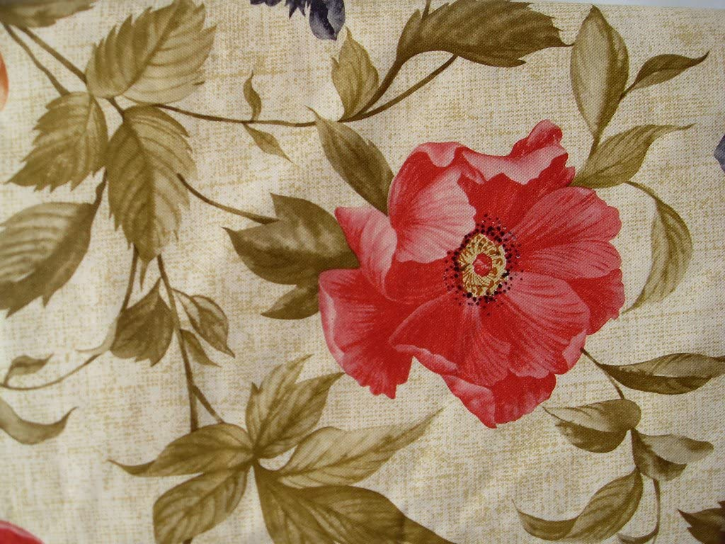 Floral on Beige - Flannel Back Vinyl Tablecloths - Assorted Sizes -Square, Oblong and Round (52 x 70 Oblong)