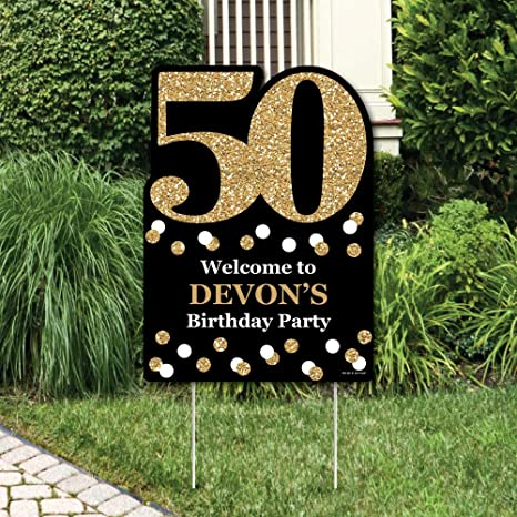 Amazon Big Dot Of Happiness Custom Adult 50th Birthday