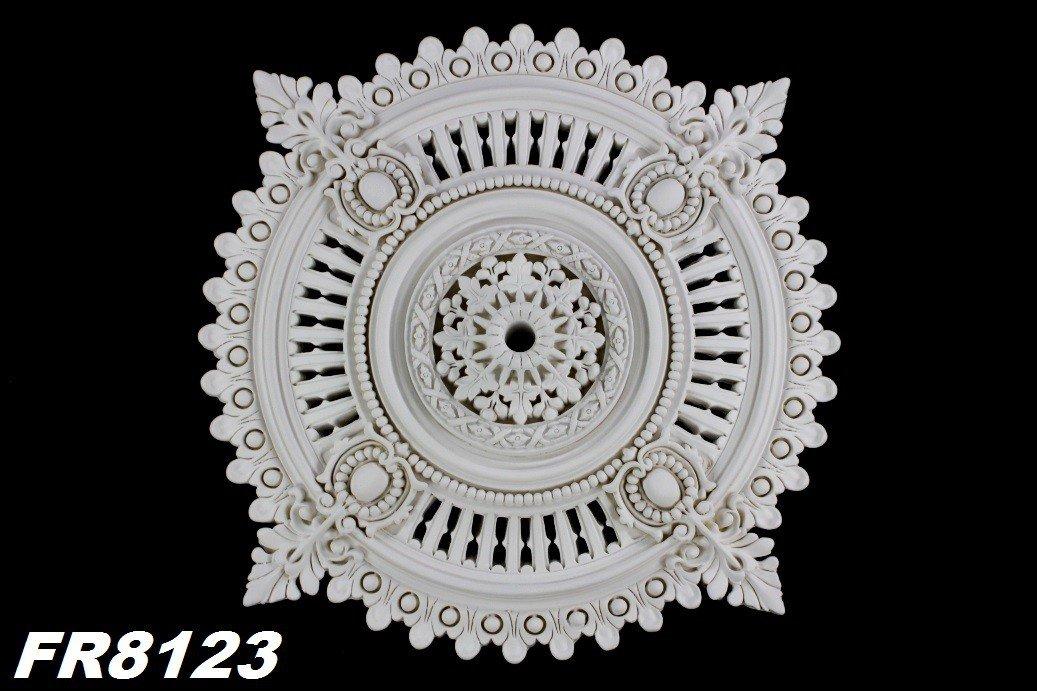 1 x PU ceiling rosette, inner stucco decoration, shockproof, diameter: 64 cm, FR8123 diameter: 64cm HEXIM