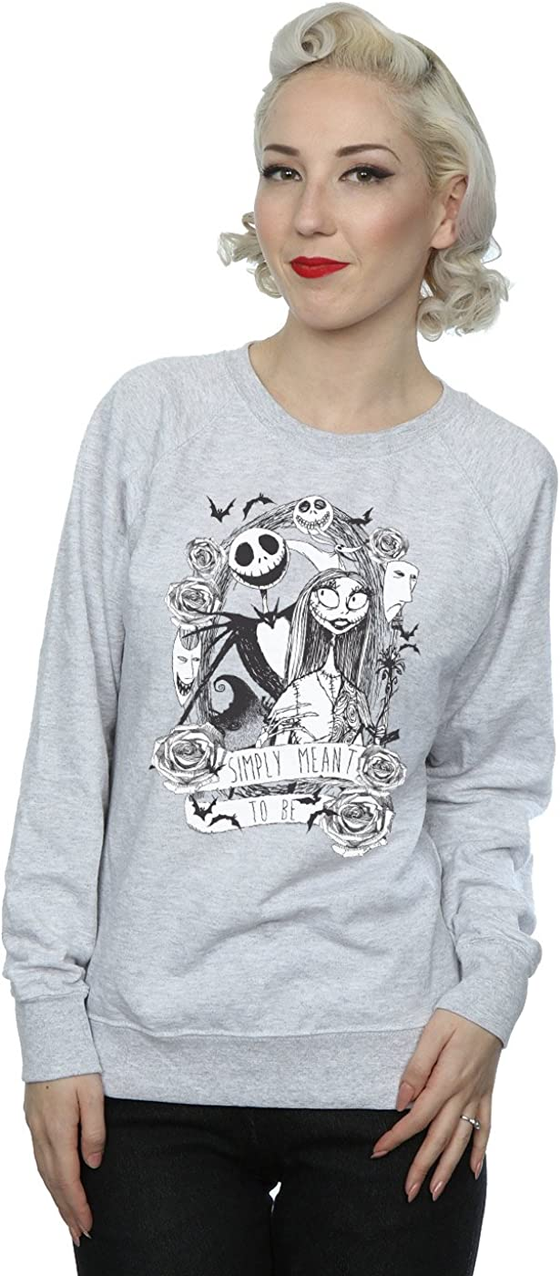 Disney mujer Nightmare Before Christmas Simply Meant To Be Camisa De Entrenamiento