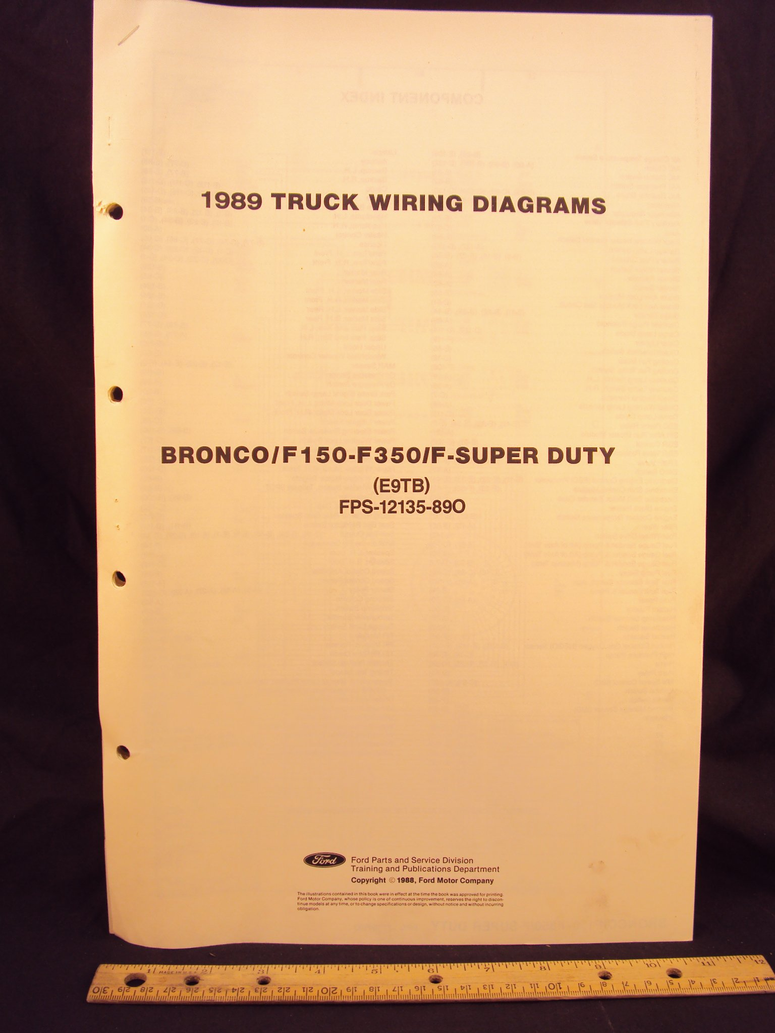[ANLQ_8698]  1989 FORD F-150, F250, F350 Series Truck, Bronco, & Super Duty Truck  Electrical Wiring Diagrams / Schematics: Ford Motor Company: Amazon.com:  Books | 1989 F150 Wiring Diagram |  | Amazon.com