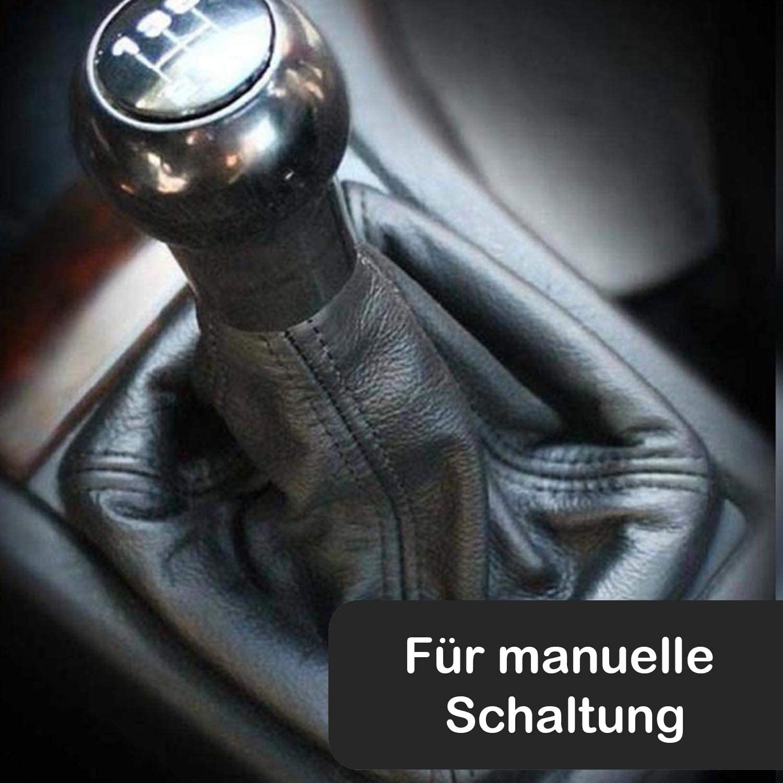 Schaltsack Echt Leder Schwarz Ma/ß Schaltmanschette Bezug Abdeckung Schalthebel