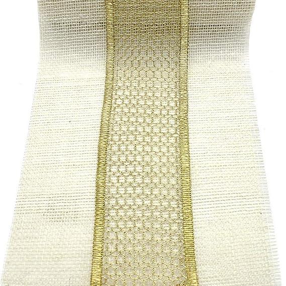 gold//silber Tüllband weich wetterfest Gitterband 20 Meter 50mm