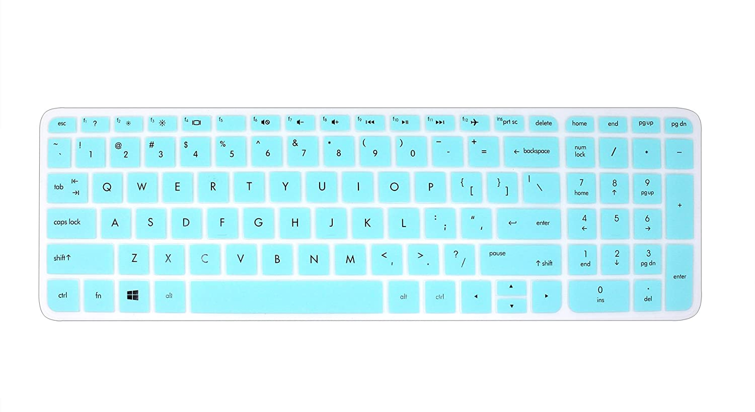 Silicone Keyboard Cover Skin for 15' HP Pavilion 15-ab 15-ac 15-ae 15-af 15-an 15-ak 15-ay 15-ax 15-as 15-ba 15-bc 15-bk Series, HP OMEN 15-ax, HP Envy x360 m6-ae151dx m6-p113dx m6-w (Ombre Purple) YYubao