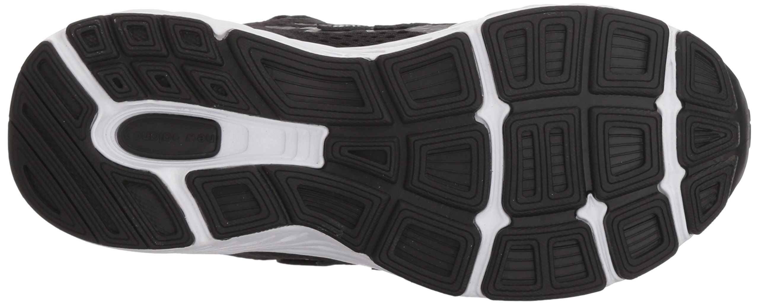 New Balance Boys' 680v5 Hook and Loop Running Shoe, Black/White, 9 M US Toddler by New Balance (Image #3)