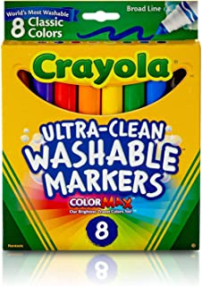 product image for Crayola Ultra-Clean Washable Markers, Broad Line, 8 Count