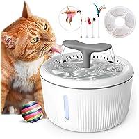 PewinGo Fuente para Perros 2L Silenciosa, Bebedero Gatos Automática con Agua Nivel LED Indicadora, Filtro de Carbón…